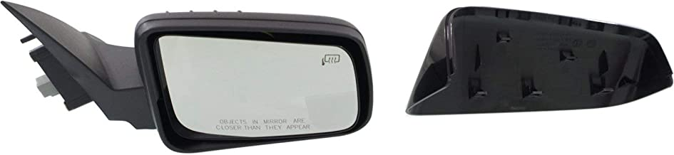 Mirror Compatible with 2008-2011 Ford Focus Power Heated 2 Caps (Paintable/Textured Black) Passenger Side