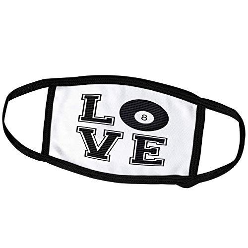 Promini Monatsmaske – Janna Salak Designs Sports – Druck der Liebe Pool – Billiard – Staubmaske Outdoor Schutzmaske