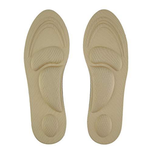 YKSO Mujeres Pies Cuidado Masaje Tacones Altos Esponja 3D Plantillas de Zapatos Cojines DIY Corte Deporte Arco Apoyo Ortótico