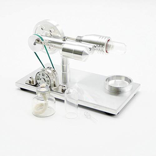 Aire Caliente Stirling Engine Motor Generador de energía Electricidad LED Modelo Educativo