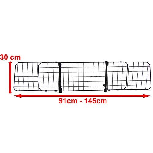 Tenzo-R 37482 Universal Hundegitter Schutzgitter Gepäckraum verstellbar für PKW KFZ Auto Kombi