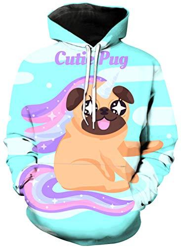 Ocean Plus dziewczęta jednorożec flaming długie rękawy bluza z kapturem cyfrowy nadruk urodziny sport bluza z kapturem ananas dla dzieci bluza z kapturem