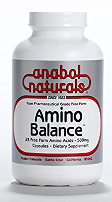 Amino Balance 240 caps, Amino Energy Supplement, Complete 23 FreeForm Amino Blend Formula with BCAA's, 9 Essential Amino Acids EAA's for Sports Nutrition, Post Workout Muscle Recovery