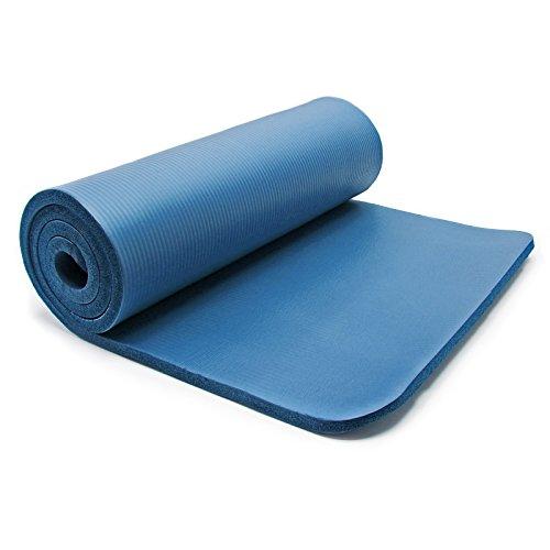 Wiltec Yogamatte blau 190x100x1.5cm Turnmatte Gymnastikmatte Bodenmatte Sportmatte rutschfest extradick