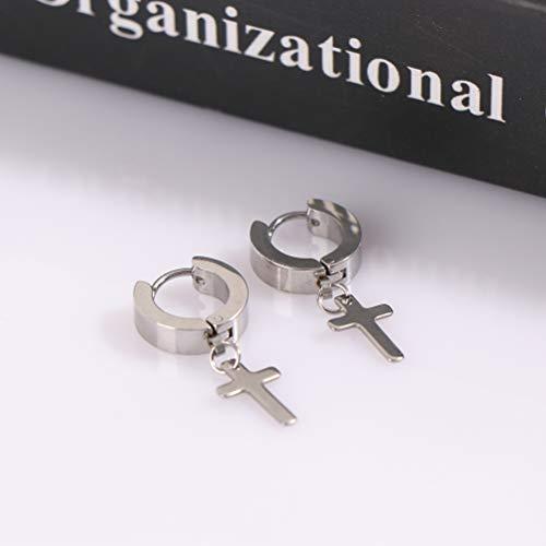 1 par de pendientes de acero de titanio de plata personalizados con clip de oreja pulido a mano para niñas y niños