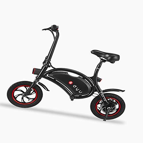 "WQY Bicicleta Eléctrica Plegable, Bicicleta Eléctrica De Montaña/Bicicleta Eléctrica para Adultos 12""Resistente Al Agua De Gran Capacidad 36V 4.4Ah Cargador De Batería Bicicleta,Negro"