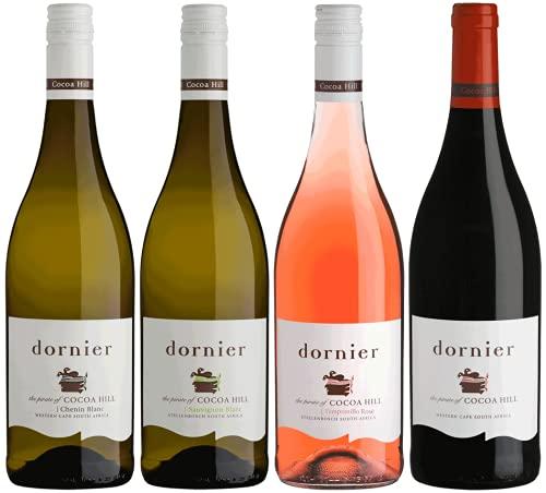 Dornier Probierpaket | Wein aus Südafrika | Weinpaket mit Dornier Cocoa Hill Weinen (4 x 0.75l) | Trocken | Weine für jeden Geschmack von CAPREO