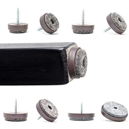 hecho en Alemania Pies de Muebles by Keay Vital Parts Deslizador de Pl/ástico con Clavo Marr/ón, 13mm de Di/ámetro, Paquete de 12