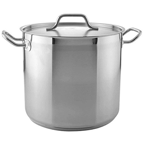Royal Industries Stock Pot with Cover, Aluminum, 16 qt, Silver by Royal Industries