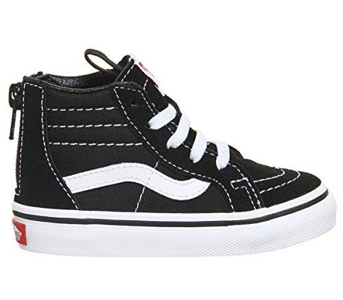 Vans Toddler's Sk8-Hi Zip Black/White VN000XG5Y28 (8 Toddler M)