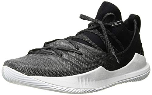 Under Armour Men's Curry 5 Basketball Shoe, White (101)/Black, 9 M US