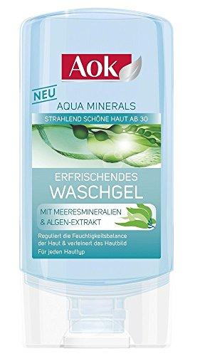 AoK Aqua Mineral/ Waschgel/ 150ml/ für jeden Hauttyp/ Mineralien und Algenextrakte/ erfrischend/