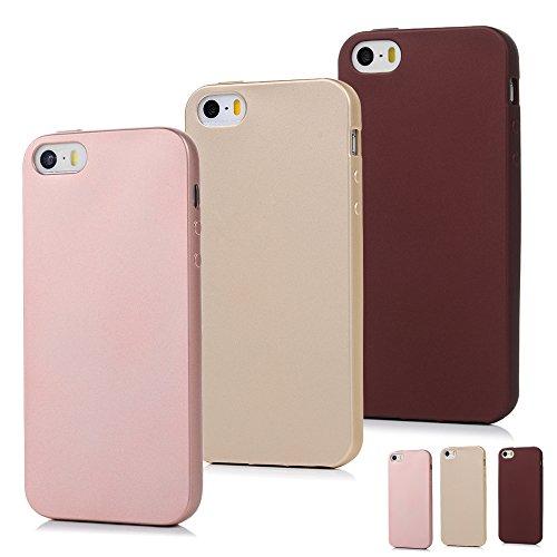 Coque iPhone 5 5 SE Etui x 3 TPU Silicone Mate Cover Couleur Pure Ultra Léger Ultra Souple Flexible de Protection de Téléphone Case Pour iPhone 5 5 SE -- Belle Combinaison 2