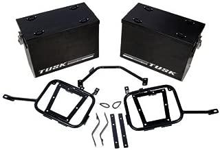 Aluminum Panniers with Pannier Racks Large Black for KTM 690 ENDURO 2008-2018