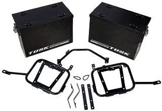 Tusk Aluminum Panniers with Pannier Racks Medium Black - Fits: Suzuki DR-Z 400S 2000-2009