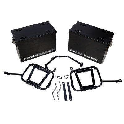 Aluminum Panniers with Pannier Racks Medium Black for Kawasaki KLR650 2008-2018