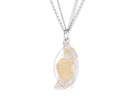 Jewels Obsession Silver Mizpah Necklace Rhodium-plated 925 Silver Breakable Round Mizpah Pendant with 2x 18 Necklace