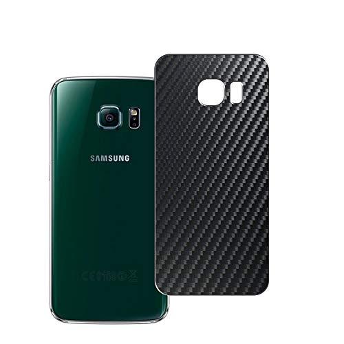 Vaxson 2 Unidades Protector de pantalla Posterior, compatible con Samsung Galaxy S6 Edge SCV31 SC-04G, Película Protectora Espalda Skin Cover - Fibra de Carbono Negro
