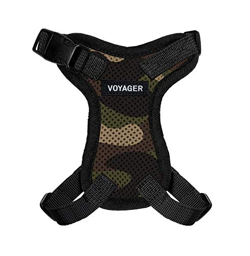 Best Pet Supplies Voyager Step-in Lock Pet Harness – All Weather Mesh, Adjustable Step in Harness for Cats and Dogs Army Base, M (Chest: 16-24