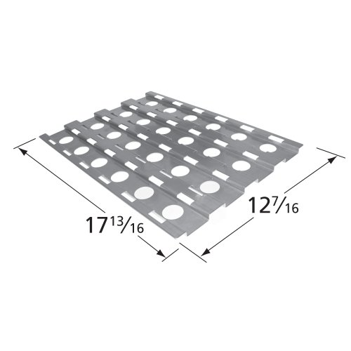 Music City Metals 92531 Stainless Steel Heat Plate Replacement for Select Alfresco Gas Grill Models