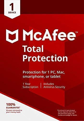 Mcafee Total protection 1 Device 2019 (Download link and activation key via Amazon Message on same day purchase)