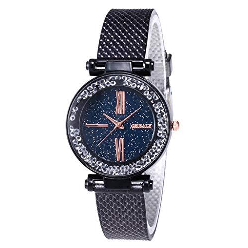 Luckhome Armbanduhr Für Damen Herren Uhr Armband Frauen Mit Lederarmband Geschäfts Klassisch Analog Quarz Dünn Freizeit Kunststoffband Handgelenk