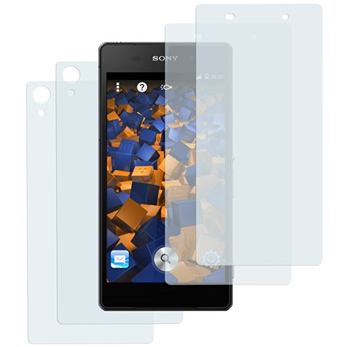 mumbi Schutzfolie kompatibel mit Sony Xperia Z2 Folie klar, Bildschirmschutzfolie (4X)