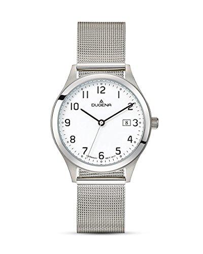 Dugena Herren Armbanduhr Senator Edelstahl 37mm silber