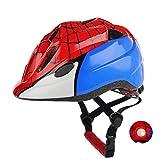 Atphfety Kids Bike Helmets,Adjustable Multi-Sport Safety Helmet with LED Light for Cycling Skate Scooter Roller (Spider)