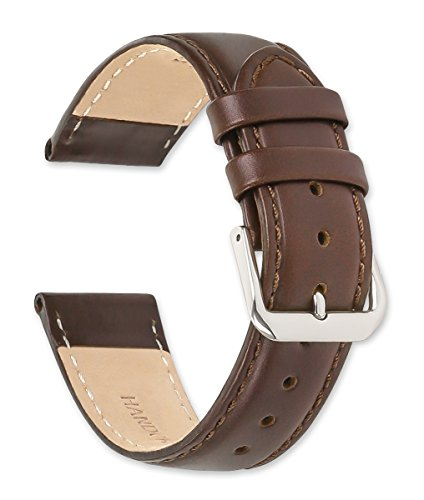 deBeer Coach Leather Watch Band - Brown 16mm