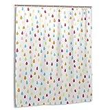 JASMODER Regenbogen Regentropfen Duschvorhang 152,4 x 182,9 cm wasserdichter Stoff Duschvorhang für Badezimmer Dekoration