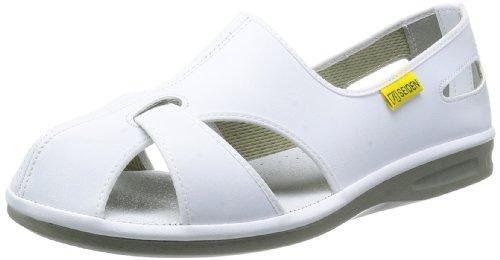 [ミドリ安全] 静電作業靴 静電気帯電防止 サンダル エレパスクールN メンズ ホワイト 22.0(22cm)