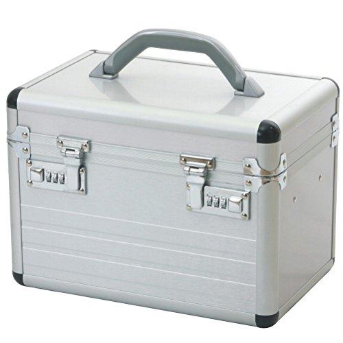 Beautycase Schminkkoffer Kosmetikkoffer Alu Beauty Case Aluminium Silber Mit Zahlenschloss