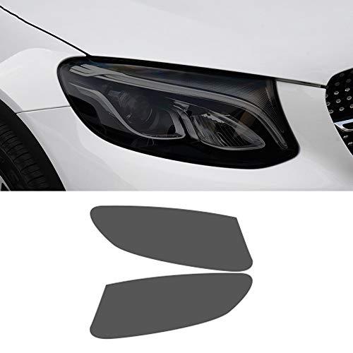 Piaobaige 2 Stück Auto Scheinwerferfolie Transparent Schwarz TPU Aufkleber Für Mercedes Benz GLC Klasse X253 C253 AMG 2015-