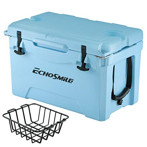 EchoSmile Rotomolded Cooler, 5 Days Ice Chest, 35QT Blue Cooler with...