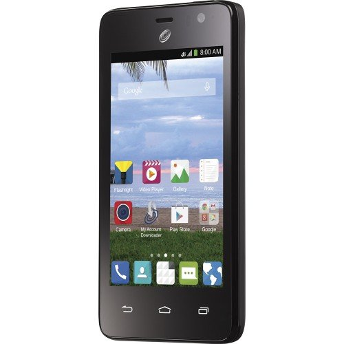 NET10 Wireless Prepaid - ZTE Paragon 4G Android 4.4 Kit Kit with 4GB Memory Andiord No-Contract Cell Phone - Black