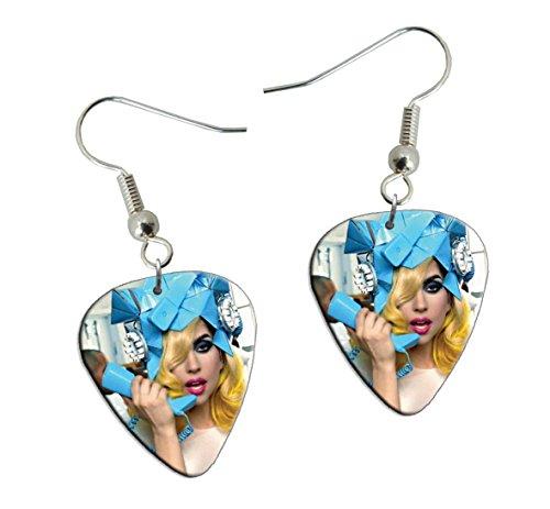 Lady Gaga Telephone Guitare Plectre Earrings Boucles d'oreilles (F1)