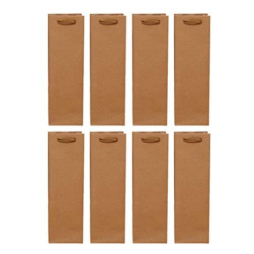 Vorcool 24 Stück Tasche für Wein aus Kraftpapier, wiederverwendbar, für Alkohol, Whisky (einfacher Behälter, 11 x 9 x 35 cm)