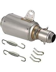 Silenciador de tubo d escape de KKmoon, silenciador de acero inoxidable de 51mm, Motocicleta Universal ATV, pastillaje con fibra de carbono artificial.