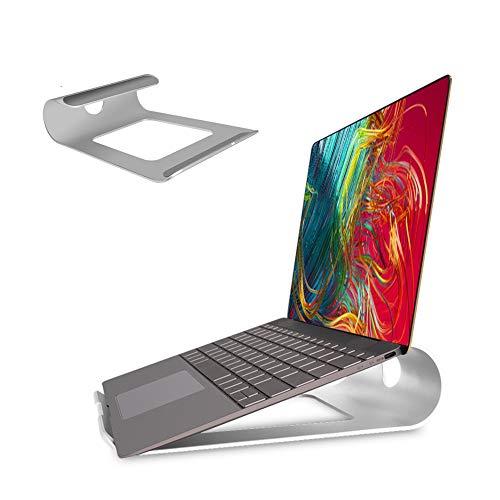 """LONGING Soporte Portátil, Aluminio Ventilado Refrigeración Soporte para Portatil Mesa, Soporte Ordenador Portátil para Macbook Pro Air Lenovo ASUS Acer HP DELL Samsung y Otros 10-15.6"""" Portátiles"""