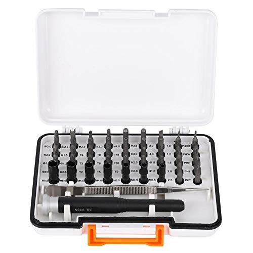 Belissy Herramienta 47pcs Telecomunicaciones dígito binario de destornillador Conjunto de aluminio Reparación precisión del instrumento con caja de almacenamiento (dígito binario de destornillador)