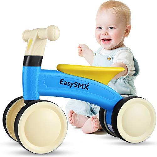 EasySMX Balance Bike Baby Walker, senza pedali per bambini, giochi da equitazione al coperto, regalo di primo compleanno per 1 anno, ragazzi e ragazze, blu