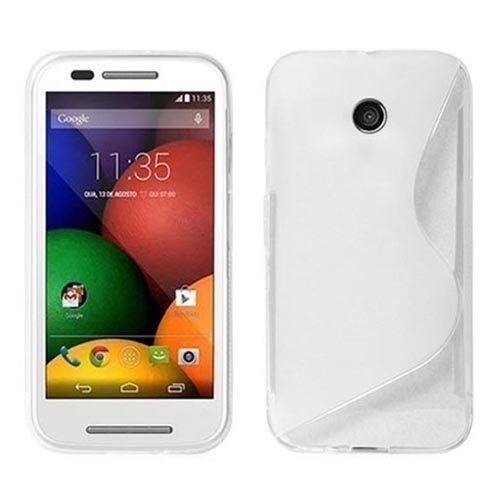 Gadget Boxx Motorola Moto E GEL de SILICONA S-LINE en Blanco Funda ...