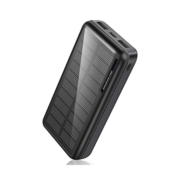 Solar Power Bank 30,000mAh-Minrise Portable Charger, Solar Charger Power Bank with...