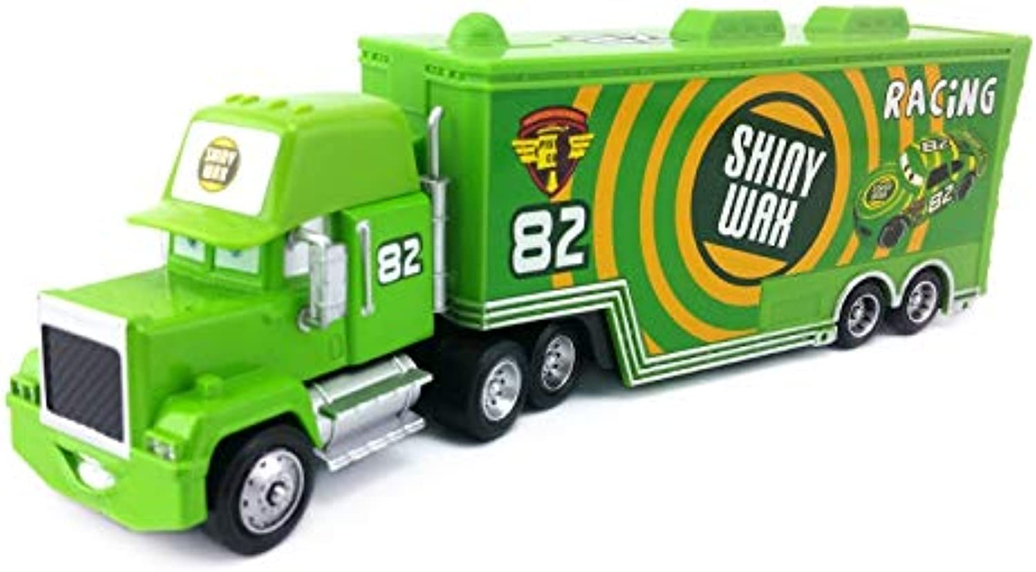 Disney Disney Pixar Cars Mack Uncle No.82 Shiny Wax Racer's Truck Diecast Toy Car Loose 1 55 in Stock &