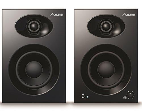 Alesis Elevate 4 - 2 Stück aktive Studio Monitore Lautsprecher mit 4 zoll Woofer für Multimedia Studio, PC, Mac
