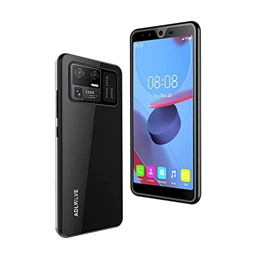 Teléfono Móvil Libres 4G, Android 9.0 Smartphone Libre, 5.5' HD, 4GB + 64GB, Cámara 8MP, Batería 5000mAh, Smartphone Barato Dual SIM, Face ID Moviles Baratos y Buenos -2*SIM+1*SD- (Negro)