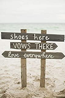 Shoes Here Vows There Love Everywhere Pallet Wood Sign For Outdoor Beach Wedding Directional W58