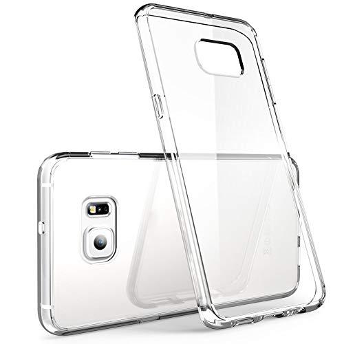 ivoler Funda Carcasa Gel Transparente Compatible con Samsung Galaxy S6 Edge, Ultra Fina 0,33mm, Silicona TPU de Alta Resistencia y Flexibilidad