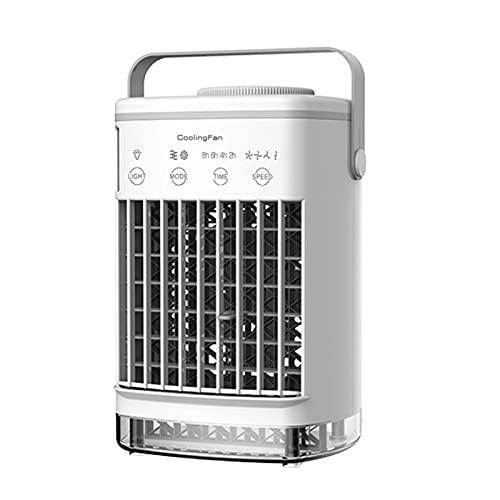 Raffreddatore D'aria Portatile, Dispositivo Di Raffreddamento Dello Spazio Personale Alimentato Tramite USB Con 4 Velocità Del Vento, Oscillazione Automatica Di 60°/120°